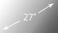 SMART VISION 27 Zoll Display in Küche integriert