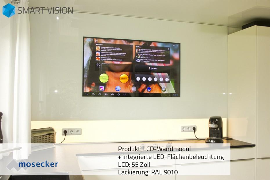 LCD Wandmodul 55 Zoll mit integrierter LED-Flächenbeleuchtung