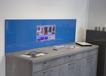 LCD-Wandmodul aus Glas mit 18,5 ″ LC-Display, Android und TV-Receiver