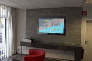 In unserer Ausstellung: LCD Wandmodul mit 55 Zoll Display