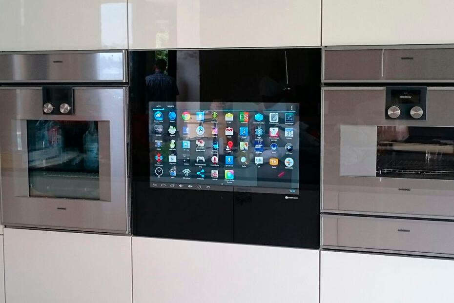 LCD in Küche integriert für Kochschule Ekelhoff