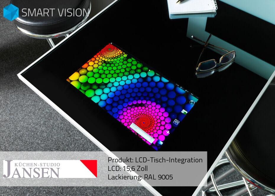 15,6″ LCD integriert in Tisch mit Android und HD Fernsehen