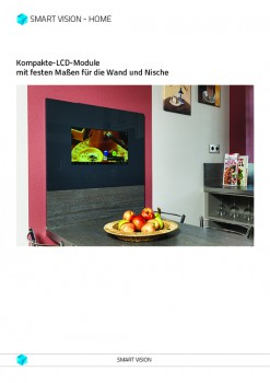 Preisblatt Rückwand Küche mit LCD integriert - SMART VISION Kompaktmodul - TV und APPs integriert