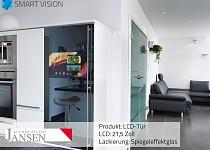 Kühlschranktür mit 21,5″ LCD in Front integriert