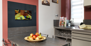 Kitchen with LCD integrated - SMART VISION Compact Module - configure TV und APPs